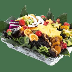 סלסלת פירות בריאותית מפנק